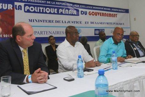 Haiti - President Martelly - Forum sur la Politique Pénale
