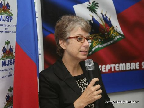 PHOTO: Sophie De Caen Representante du PNUD en Haiti