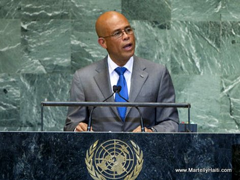 PHOTO - Haiti President Michel Martelly at the United Nations
