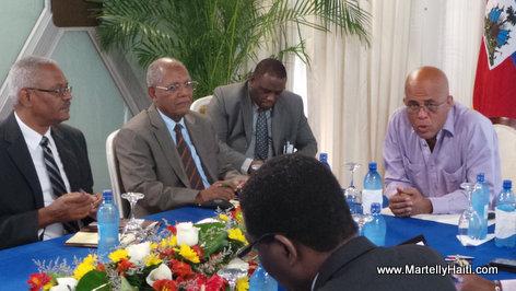 PHOTO: Haiti - President Martelly Rankontre ak Reprezantan Initiative Societe Civile la