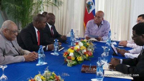 PHOTO: Haiti - President Martelly rankontre ak Simon Desras, Thimoleon, Arnel Alexis Joseph
