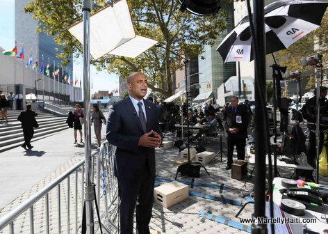 Photo: Haiti PM Laurent Lamothe in New York Interview
