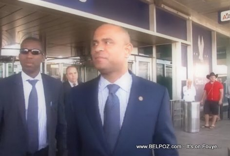 PHOTO: Haiti Prime Minister Laurent Lamothe arrives in New York for United Nations General Assembly