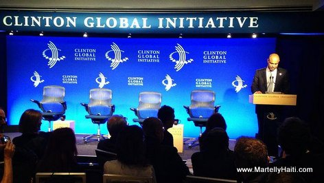 PHOTO: Haiti PM Laurent Lamothe at the Clinton Global Initiative
