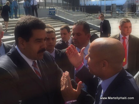 PHOTO: Haiti PM Lamothe and Venezuela President Maduro in New York
