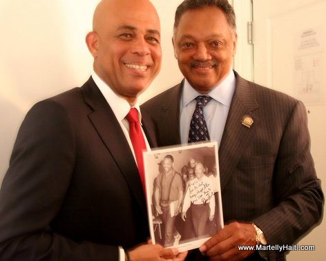 PHOTO: Haiti President Martelly and Rev. Jesse Jackson