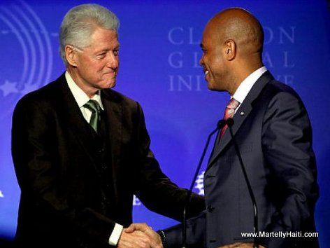 PHOTO: Presidents BIll Clinton and Michel Martelly - Clinton Global Initiative