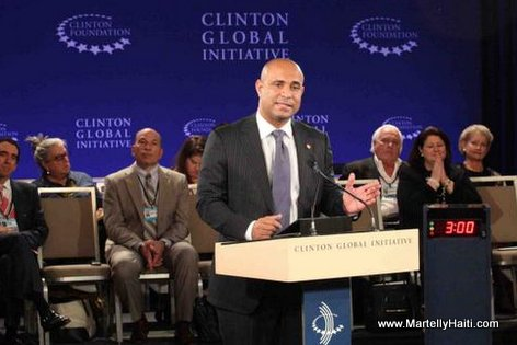 PHOTO: Haiti PM Laurent Lamothe at Clinton Global Initiative