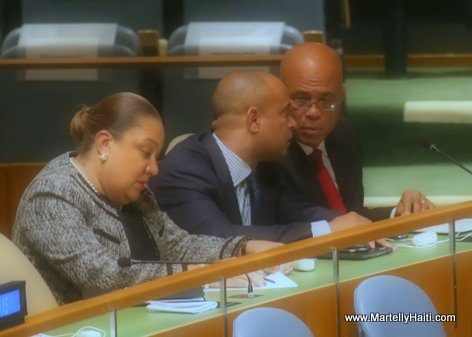 Haiti President Martelly at UN General Assembly