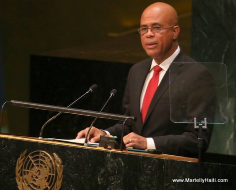 Haiti President Martelly Speaking at the UN General Assembly