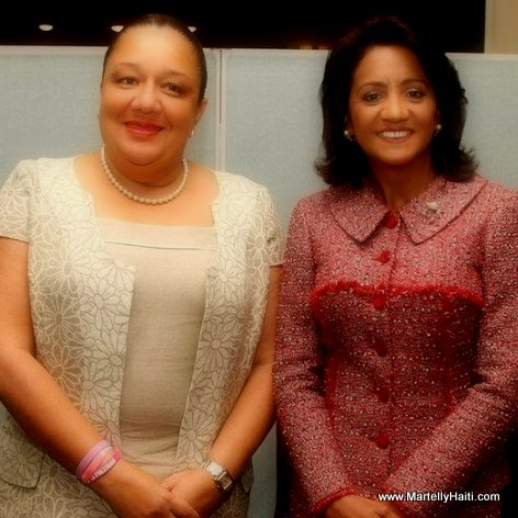 PHOTO: Haiti First Lady Sophia Martelly and Candida de Medina, first lady of the Dominican Republic