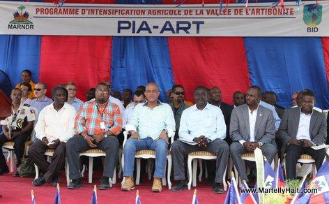 President Michel Martelly a l'occasion de l'inauguration d'importants ouvrages agricoles dans la Vallee de l'Artibonite