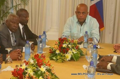 PHOTO: Haiti - President Martelly meeting with Haitian Senators 01 October 2014