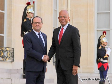 PHOTO: Haiti President Martelly rankontre ak President François Hollande La France