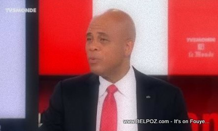 PHOTO: Haiti President Martelly Interview - TV5 Monde