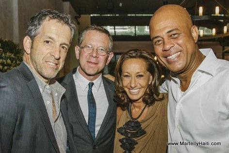PHOTO: Haiti - Kenneth Cole and President Michel Martelly