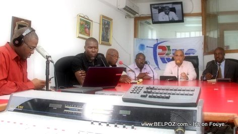 PHOTO: Haiti PM Laurent Lamothe nan Matin Caraibes - Radio Caraibes FM