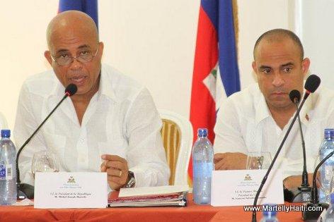 President Michel Martelly, Premier Ministre Laurent Lamonthe. Laurent Salvador Lamothe