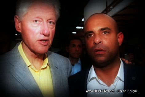 PHOTO: Bill Clinton and Haiti PM Laurent Lamothe