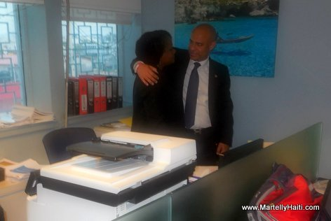 PHOTO: Haiti - Laurent Lamothe says Farewell to co-workers at La Primature