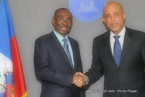 PHOTO: Haiti - President Michel Martelly et PM Evans Paul