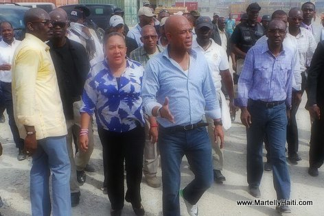 PHOTO: Haiti - President Michel Martelly Visite Warf Jeremie