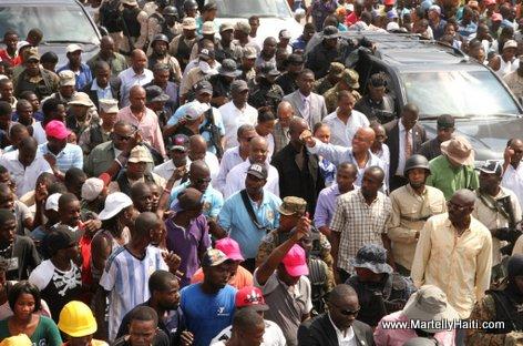 PHOTO: Haiti - President Michel Martelly Visite Warf Jeremie