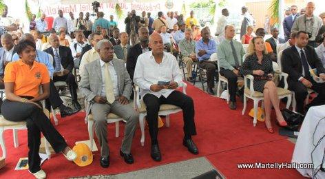Ceremonie officielle de mise en etat de fonctionnement de la Sous-station du Canape Vert