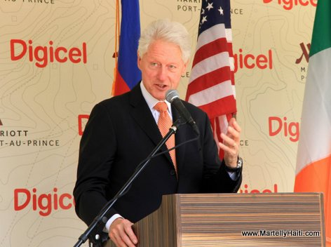 PHOTO: Haiti - Former president Bill Clinton at Marriott Port-au-Prince Hotel Inauguration