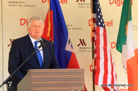 PHOTO: Digicel CEO Denis O'Brien at  Marriott Port-au-Prince Hotel Inauguration