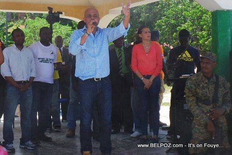 PHOTO - Haiti - President Martelly nan zile Ile-a-Vache, 19 Mars 2015