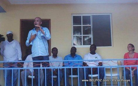 PHOTO - Haiti - President Martelly nan Centre Communautaire de Kay Kòk, Ile-a-Vache