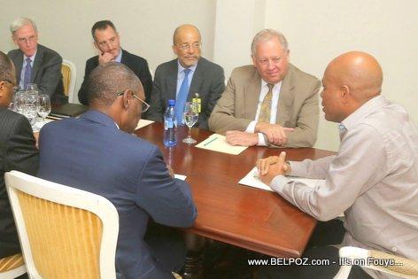 Haiti President Michel Martelly rankontre ak Departement d'Etat Americain