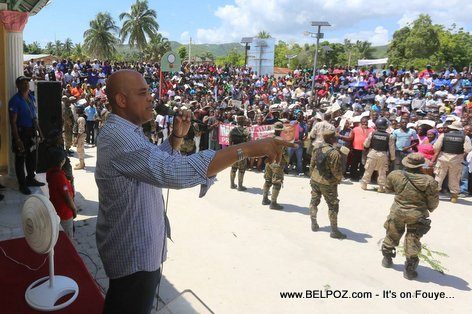 PHOTO: President Michel Martelly - Cote de Fer Haiti - 16 Apr 2015