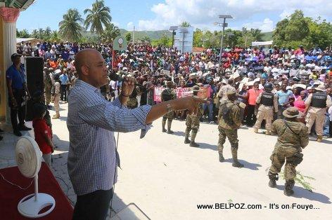 PHOTO: President Michel Martelly - Cote de Fer Haiti - 16 Apr 2015