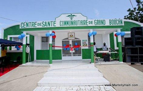 Facade principale du centre de sante communautaire de Grand Boucan
