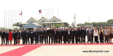 PHOTO: Visit President Francois Hollande en Haiti