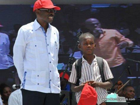 PHOTO: Haiti - President Martelly - Inauguration Kiosque Occide Jeanty