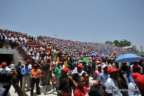 PHOTO: Haiti - President Martelly - Inauguration Kiosque Occide Jeanty