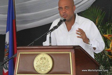 Intervention du president Michel Martelly