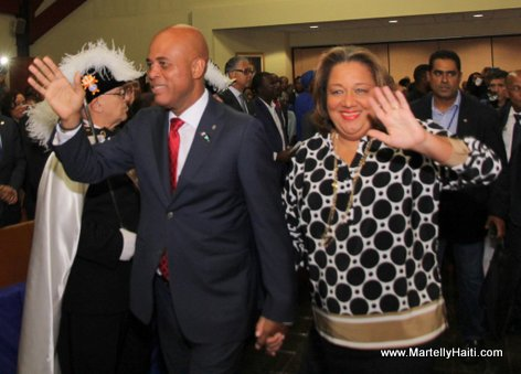 Haiti President Martelly and first lady Sophia Martelly in Spring Valley NY