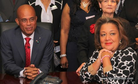 Haiti President Martelly and First Lady in Spring Valley New York