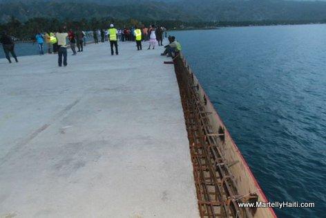L'etat d'avancement des travaux d'agrandissement et de modernisation du Port de Petit Goave