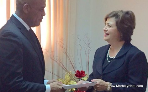 PHOTO: Haiti - President Martelly Welcomes New Ambassador of The United Kingdom (Royaume-Uni)