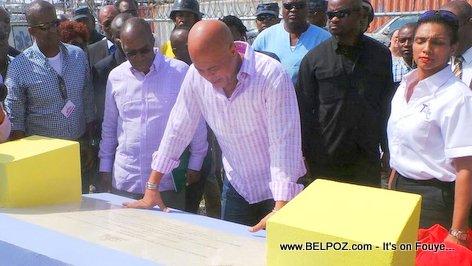 PHOTO: Haiti - President Martelly Inauguration infrastructures socio-communautaires Wharf Jeremie