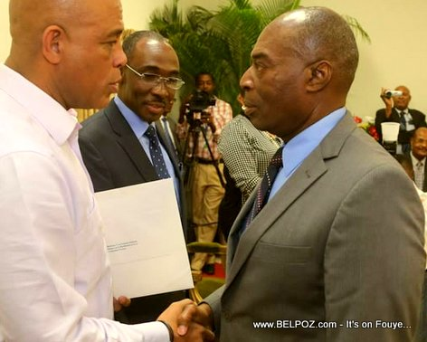 PHOTO: Haiti President Michel Martelly and Planification Minister Yves Germain Joseph