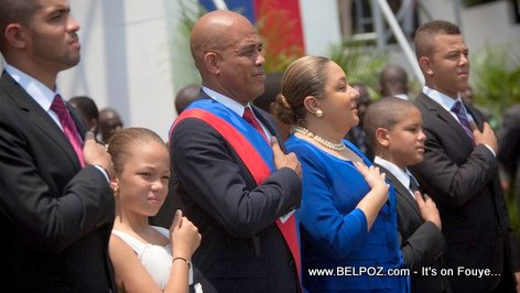 Haiti President Michel Martelly and family - Inauguration day
