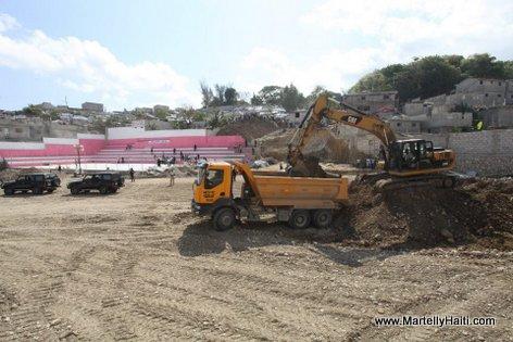 La construction du Parc Sportif Bristou