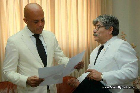 President Michel Joseph Martelly, Carlos Alberto Calles Salvador Ambassador