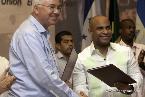 Premier Ministre Laurent Lamothe - Signature accord Haiti - Venezuela